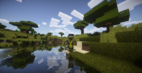 Minecraft HD graphics with shaders