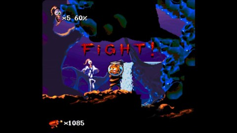 Earthworm Jim 2 Easiest Bosses Screenshot